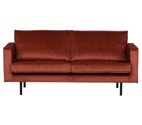 2,5-personers sofa i velour B190 cm – Kastanje