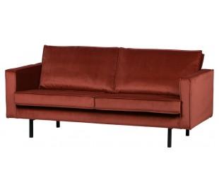 2,5-personers sofa i velour B190 cm - Kastanje