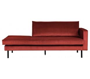 Daybed sofa i velour B206 cm - Kastanje