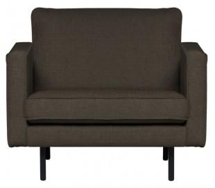 Lænestol i polyester B105 cm - Gråbrun