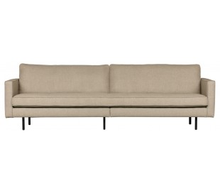 3-personers sofa i polyester B277 cm - Sand