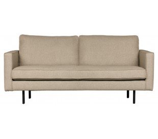 2,5-personers sofa i polyester B190 cm - Sand