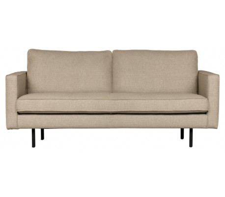 2,5-personers sofa i polyester B190 cm – Sand