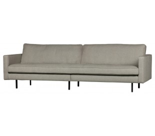 3-personers sofa i polyester B277 cm - Nougat