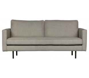 2,5-personers sofa i polyester B190 cm - Nougat