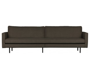 3-personers sofa i polyester B277 cm - Gråbrun