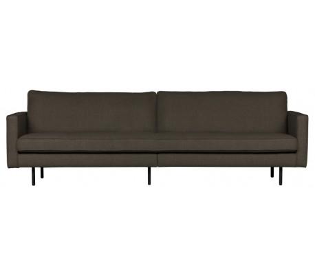 3-personers sofa i polyester B277 cm – Gråbrun