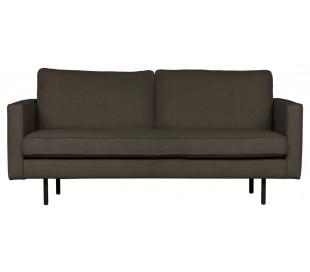 2,5-personers sofa i polyester B190 cm - Gråbrun