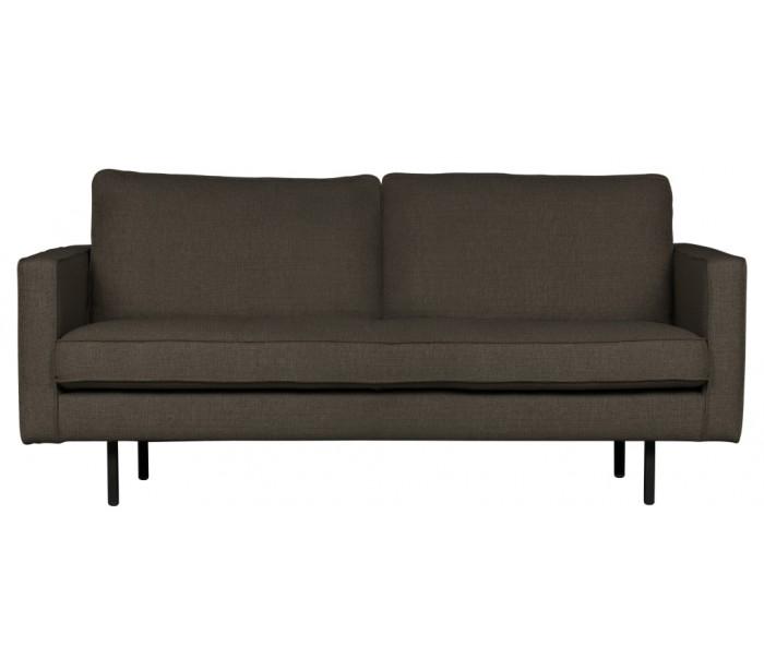 2,5-personers sofa i polyester B190 cm – Gråbrun