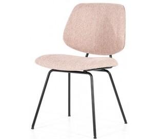 Lynn spisebordsstol i polyester H82 cm - Sort/Pink