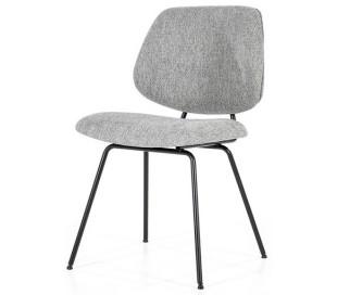 Lynn spisebordsstol i polyester H82 cm - Sort/Grå