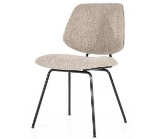 Lynn spisebordsstol i polyester H82 cm - Sort/Beige