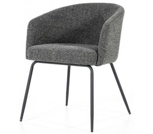 Astrid spisebordsstol med armlæn i polyester H77 cm - Sort/Antracit