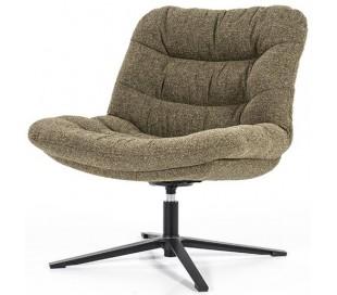 Danica rotérbar lænestol i polyester H81 cm - Sort/Grøn
