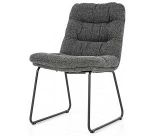 Danica spisebordsstol i polyester H86 cm - Sort/Antracit