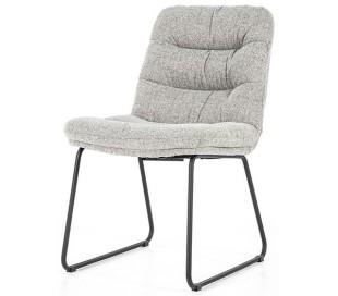 Danica spisebordsstol i polyester H86 cm - Sort/Lysegrå