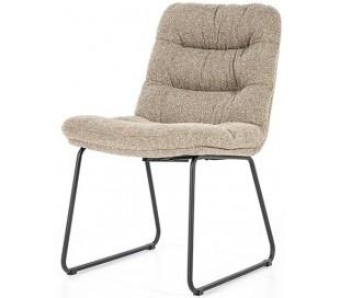 Danica spisebordsstol i polyester H86 cm - Sort/Beige