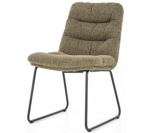 Danica spisebordsstol i polyester H86 cm - Sort/Grøn