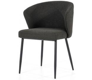 Santos spisebordsstol med armlæn i polyester H79,5 cm - Sort/Sort