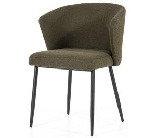Santos spisebordsstol med armlæn i polyester H79,5 cm - Sort/Grøn
