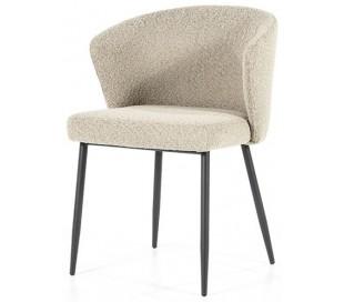 Santos spisebordsstol med armlæn i polyester H79,5 cm - Sort/Taupe