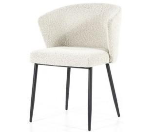 Santos spisebordsstol med armlæn i polyester H79,5 cm - Sort/Hvid