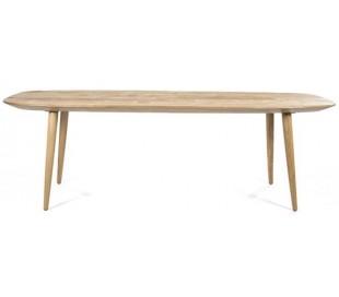 Spisebord i genanvendt teaktræ 220 x 100 cm - Teak