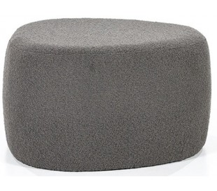 Liby puf i polyester 70 x 49 cm - Antracit