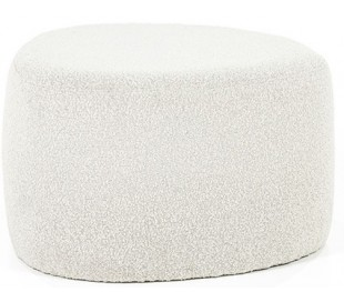Liby puf i polyester 70 x 49 cm - Beige