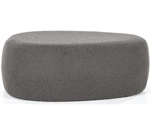 Liby puf i polyester 90 x 70 cm - Antracit