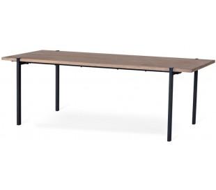 Aki spisebord i egetræsfinér og metal 220 x 95 cm - Sort/Gråbejset