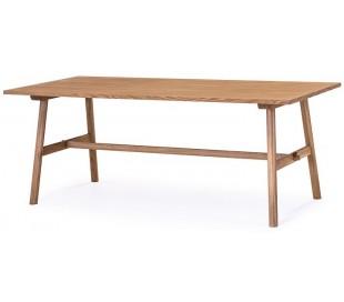 Bridge spisebord i egetræsfinér og egetræ 150 x 90 cm - Olieret eg
