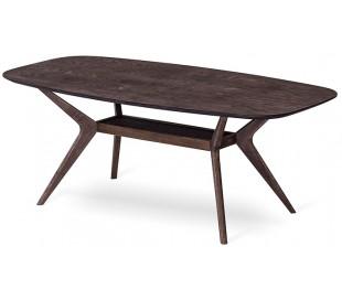 Elton sofabord i egetræsfinér og egetræ 140 x 70 cm - Smoked eg