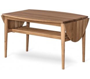 Flip sofabord i egetræ 90 - 140 x 69 cm - Olieret eg