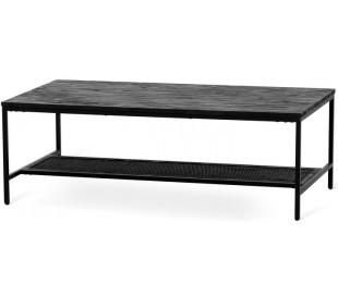 Gotham sofabord i akacietræ og metal 135 x 60 cm - Sort/Sortbejset