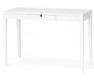 Klinte skrivebord med 1 skuffe i birketræ og mdf B110 cm - Hvid