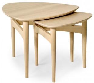 Orust sofaborde i birketræ og finér - Hvidpigmenteret