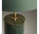 Biscane bordlampe i metal og marmor H44 cm - Grøn/Antik messing