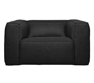 Lænestol i polyester B146 cm - Mørkegrå
