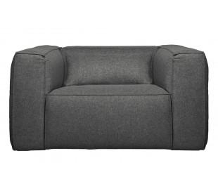 Lænestol i polyester B146 cm - Grå