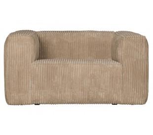 Lænestol i ripcord polyester B146 cm - Travertin