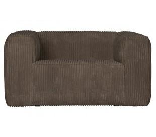 Lænestol i ripcord polyester B146 cm - Brun
