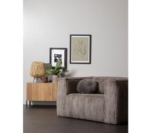 Lænestol i ripcord polyester B146 cm - Terrazzo