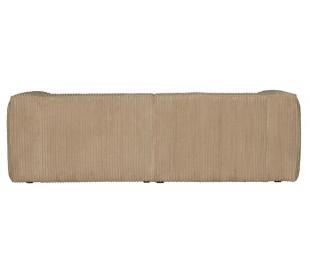 Moderne 3,5 personers sofa i ripcord polyester 246 x 96 cm - Travertin