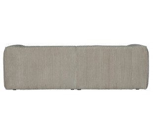 Moderne 3,5 personers sofa i ripcord polyester 246 x 96 cm - Natur