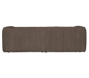 Moderne 3,5 personers sofa i ripcord polyester 246 x 96 cm - Brun