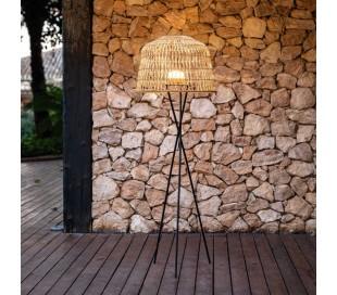 Amalfi trådløs udendørs gulvlampe H148 cm - Sort/Natur