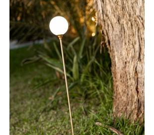 Bruna solcelle udendørs lampe H80 cm - Messing/Hvid