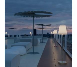 Lola udendørs gulvlampe H119 cm - Antracit/Hvid