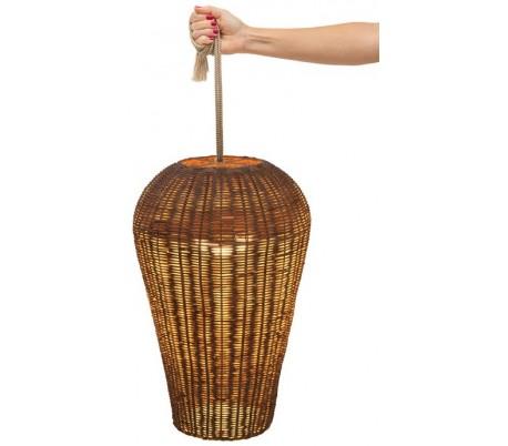 Saona trådløs udendørs loftlampe Ø31 cm - Natur